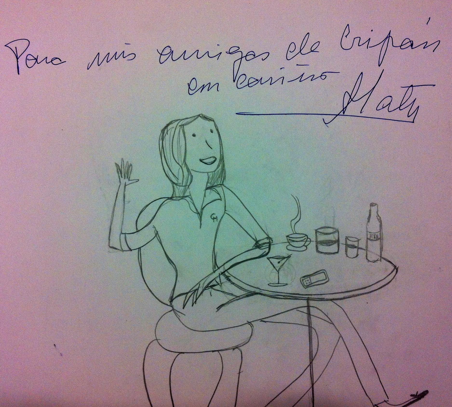 Porque no sólo de pan vive el hombre. A las chicas nos gusta seguir los consejos de una grande de la moda que nos firmo esta divertida ilustración.
